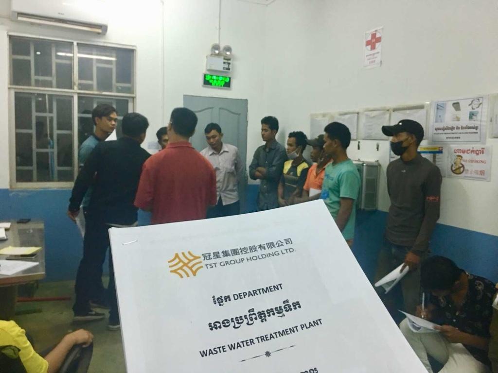 印染废水处理柬埔寨工人班组现场培训